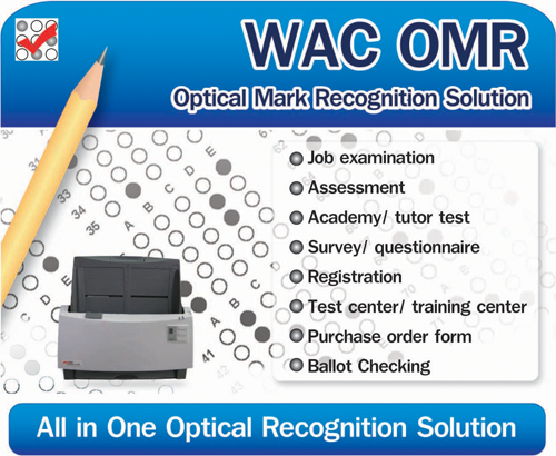 WAC OMR Optical Mark Recognition Solution Scanner Software